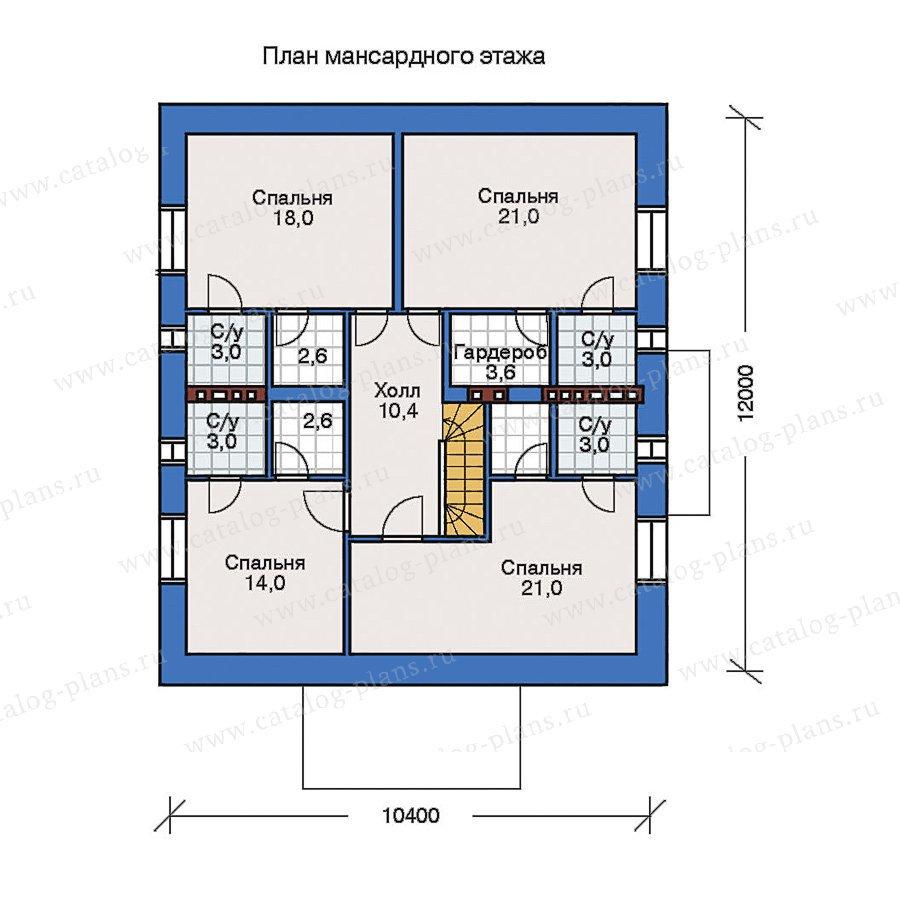 План 2-этажа проекта 32-42