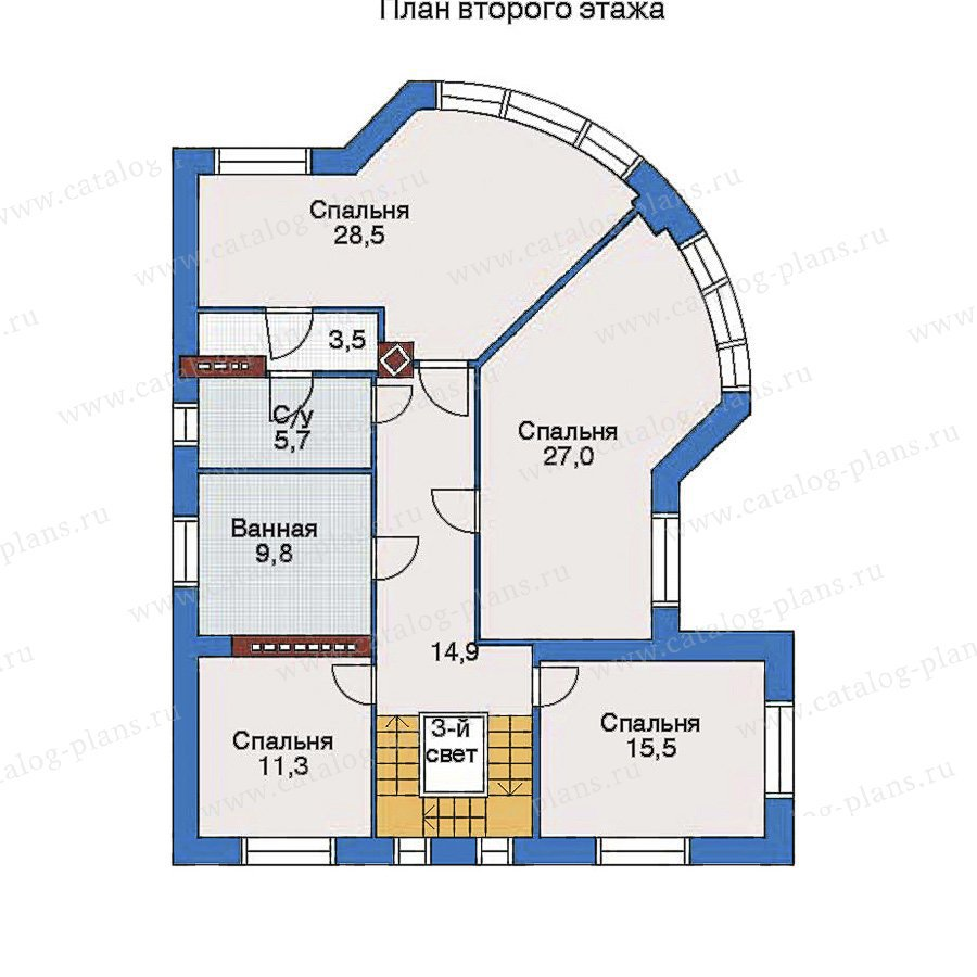 План 3-этажа проекта 32-64