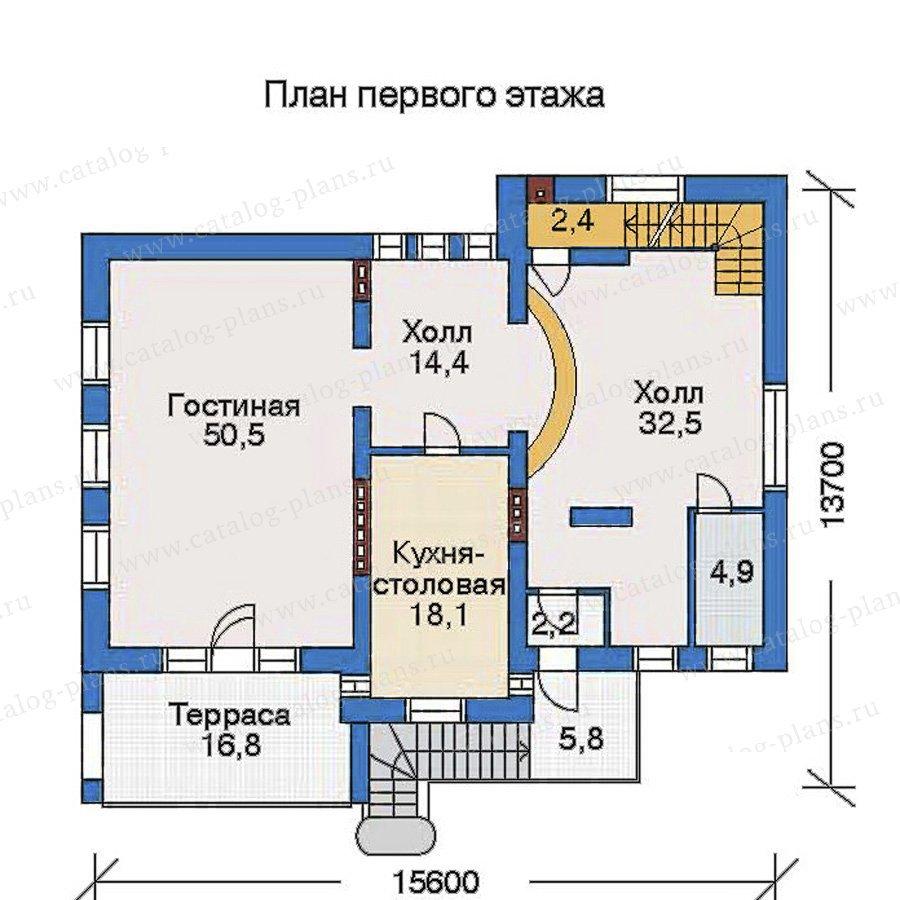 План 2-этажа проекта 32-81