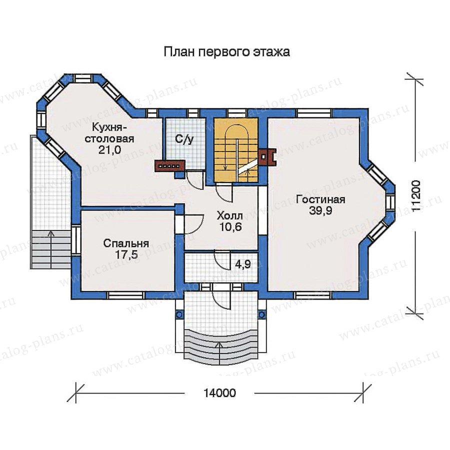План 2-этажа проекта 32-49