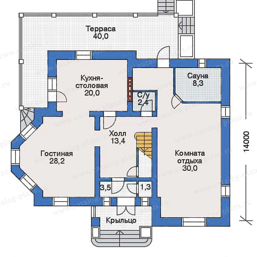 План 1-этажа проекта 32-91