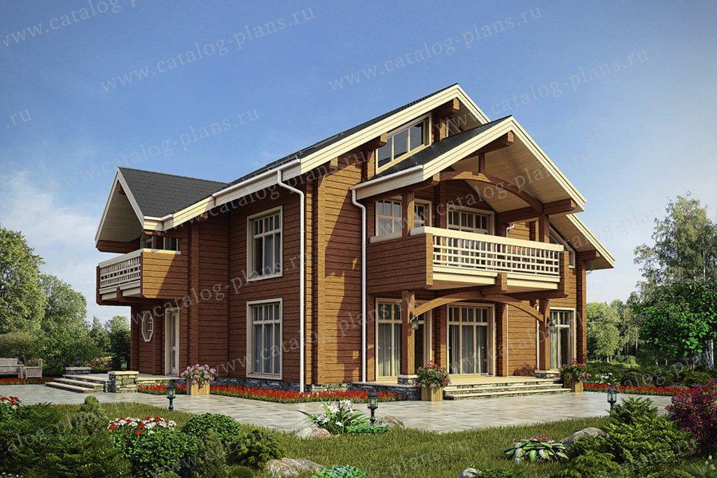 Проект жилой дом #12-61 материал - дерево, стиль скандинавский