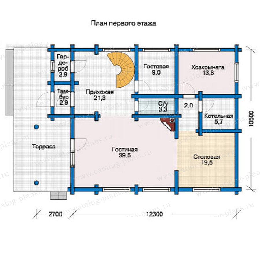 План 1-этажа проекта 12-01