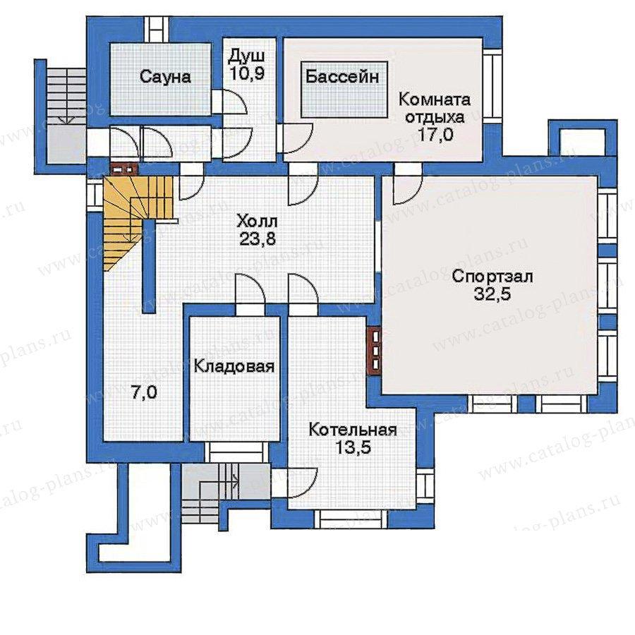 План 1-этажа проекта 32-78