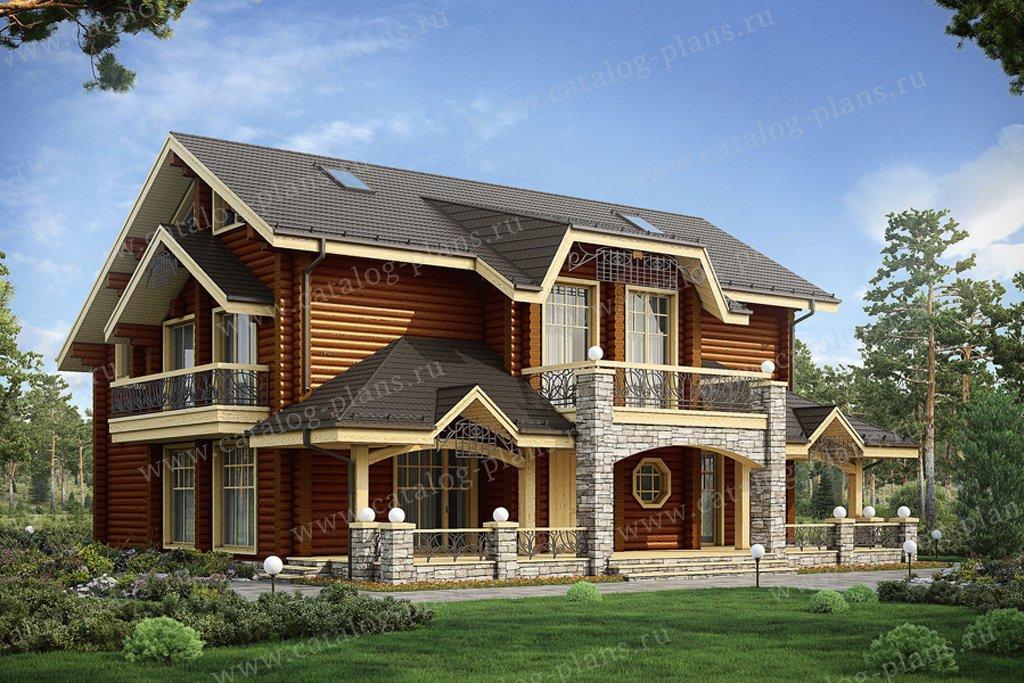 Проект жилой дом #12-47 материал - дерево, стиль норвежский