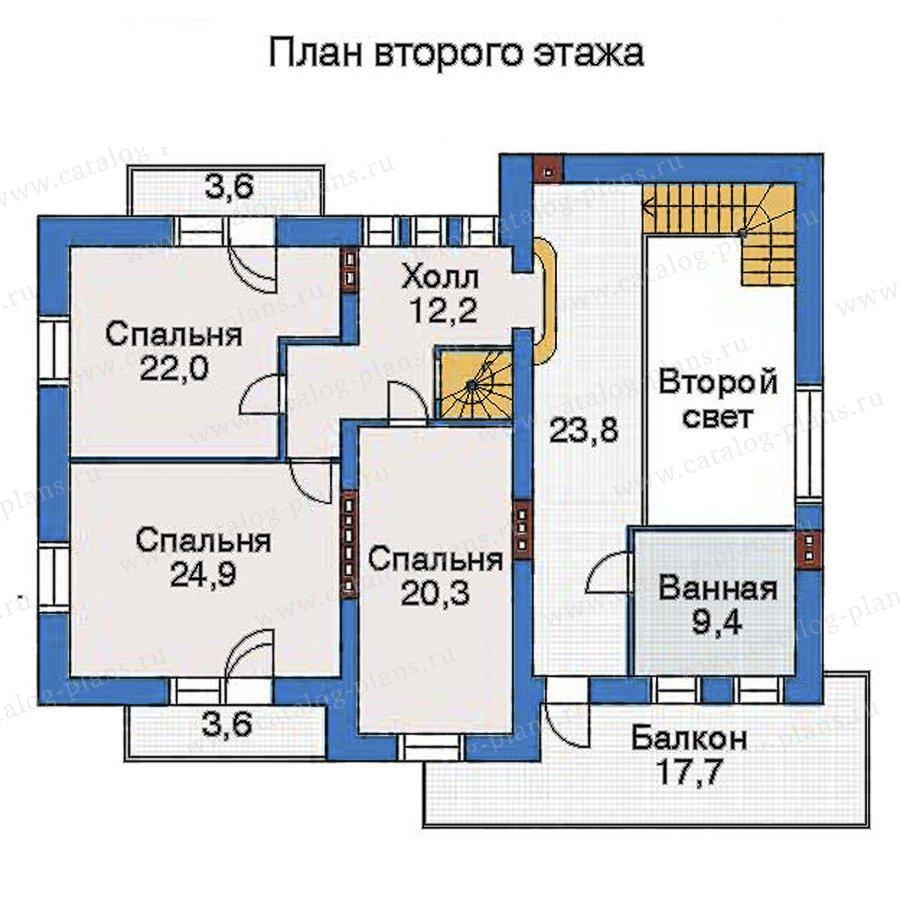 План 3-этажа проекта 32-81