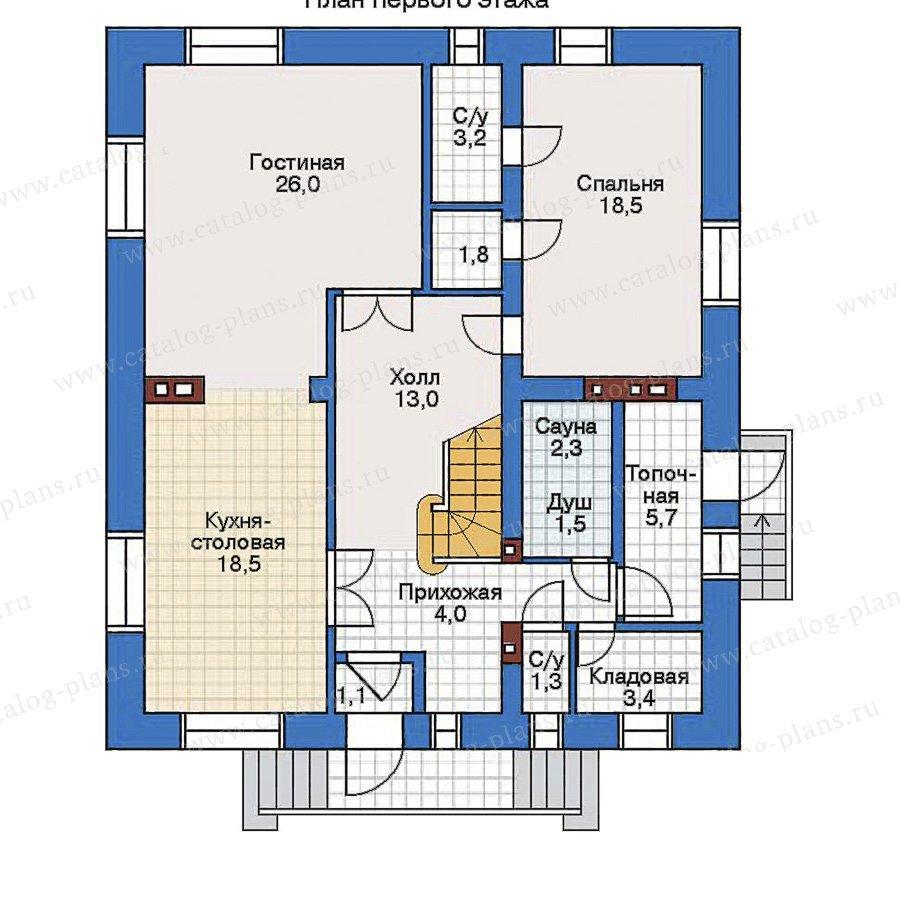 План 1-этажа проекта 32-40