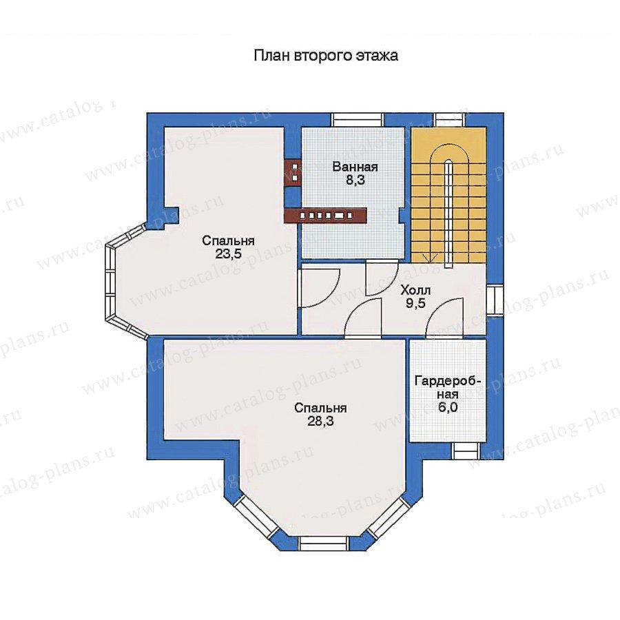 План 2-этажа проекта 32-75