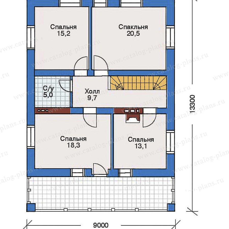 План 3-этажа проекта 32-52