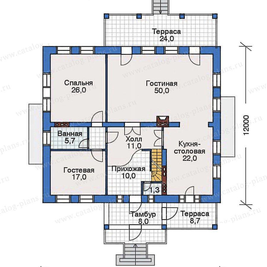 План 2-этажа проекта 32-55