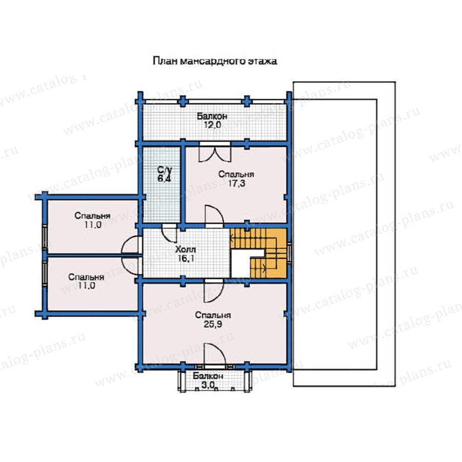 План 2-этажа проекта 12-08