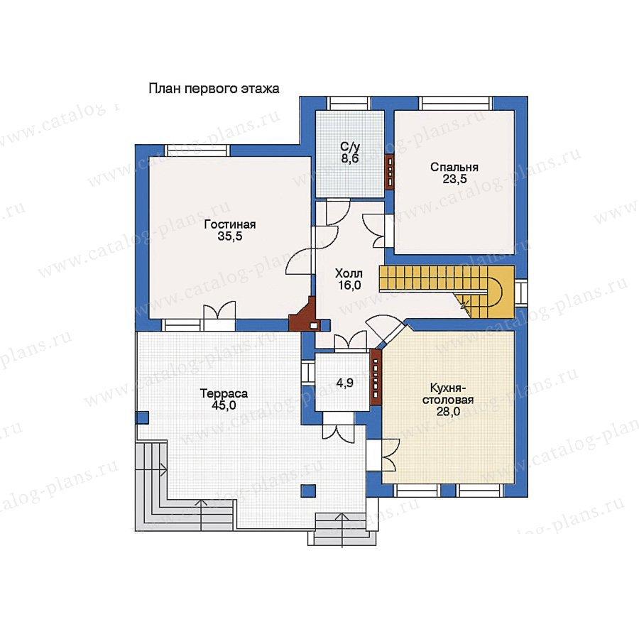 План 1-этажа проекта 32-83