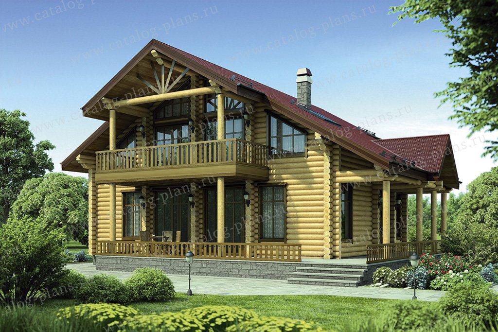 Проект жилой дом #12-18 материал - дерево, стиль скандинавский