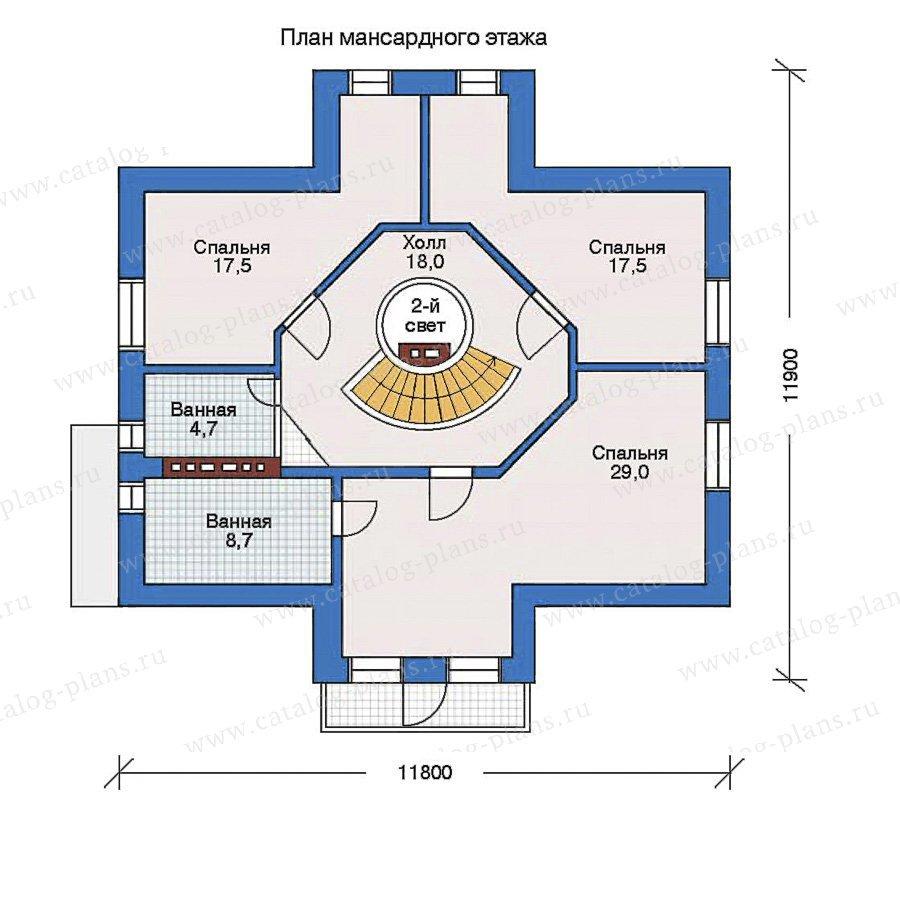 План 2-этажа проекта 32-39