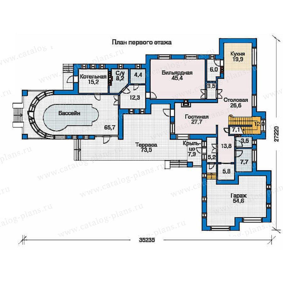 План 1-этажа проекта 32-45