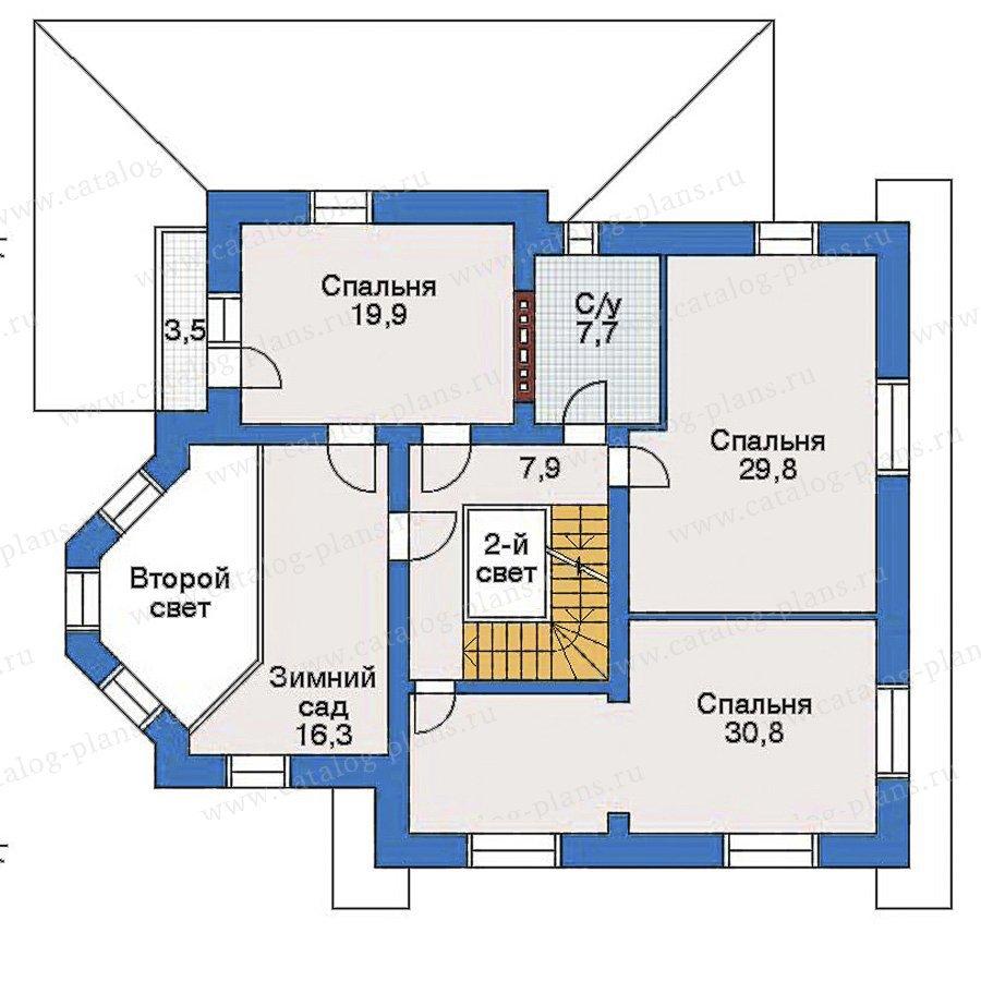 План 2-этажа проекта 32-91