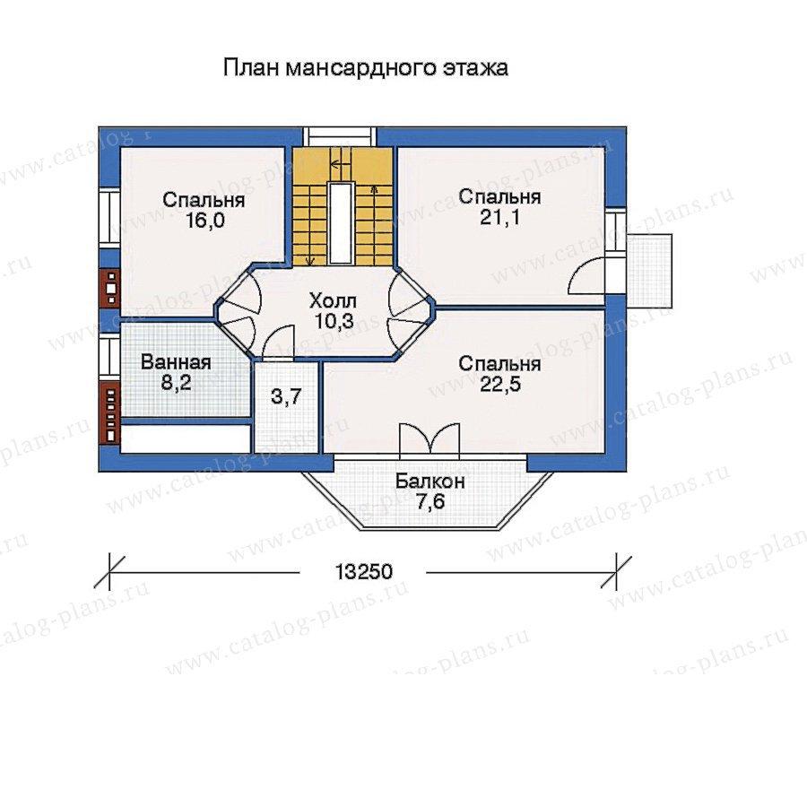 План 3-этажа проекта 32-53