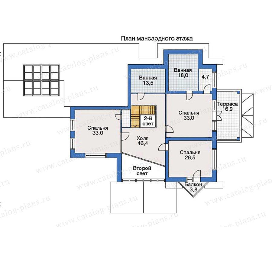 План 2-этажа проекта 32-88