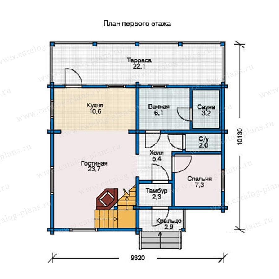 План 1-этажа проекта 12-10