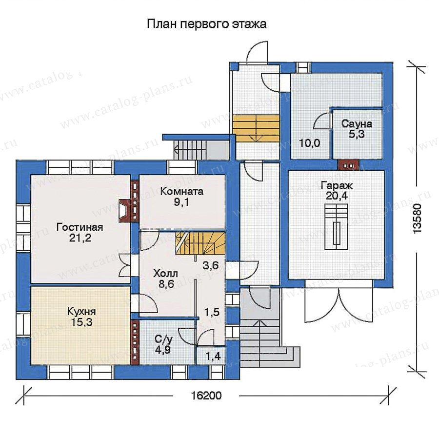 План 2-этажа проекта 32-95