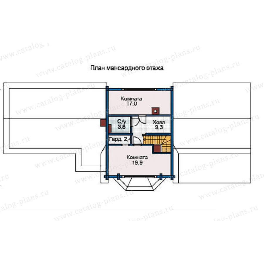 План 2-этажа проекта 12-14