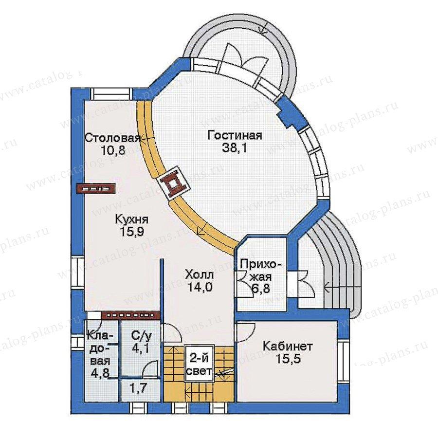 План 2-этажа проекта 32-64