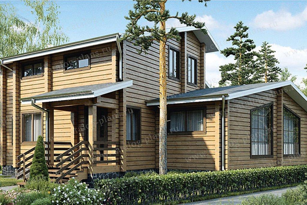 Проект жилой дом #12-49 материал - дерево, стиль современный