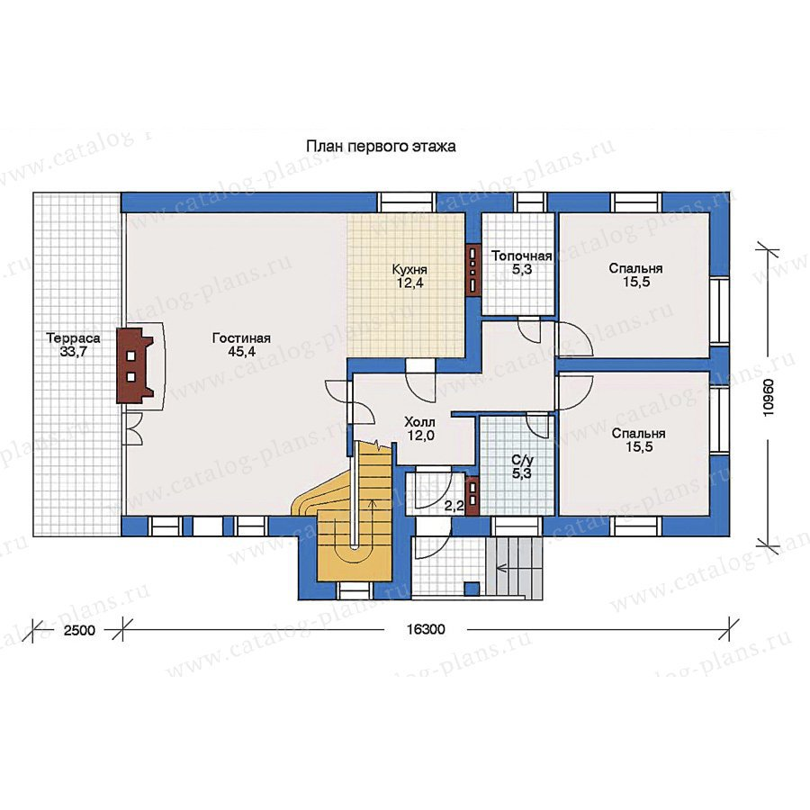 План 1-этажа проекта 32-51