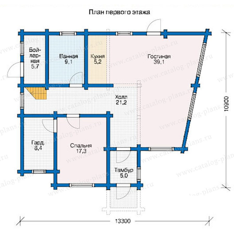 План 1-этажа проекта 12-49