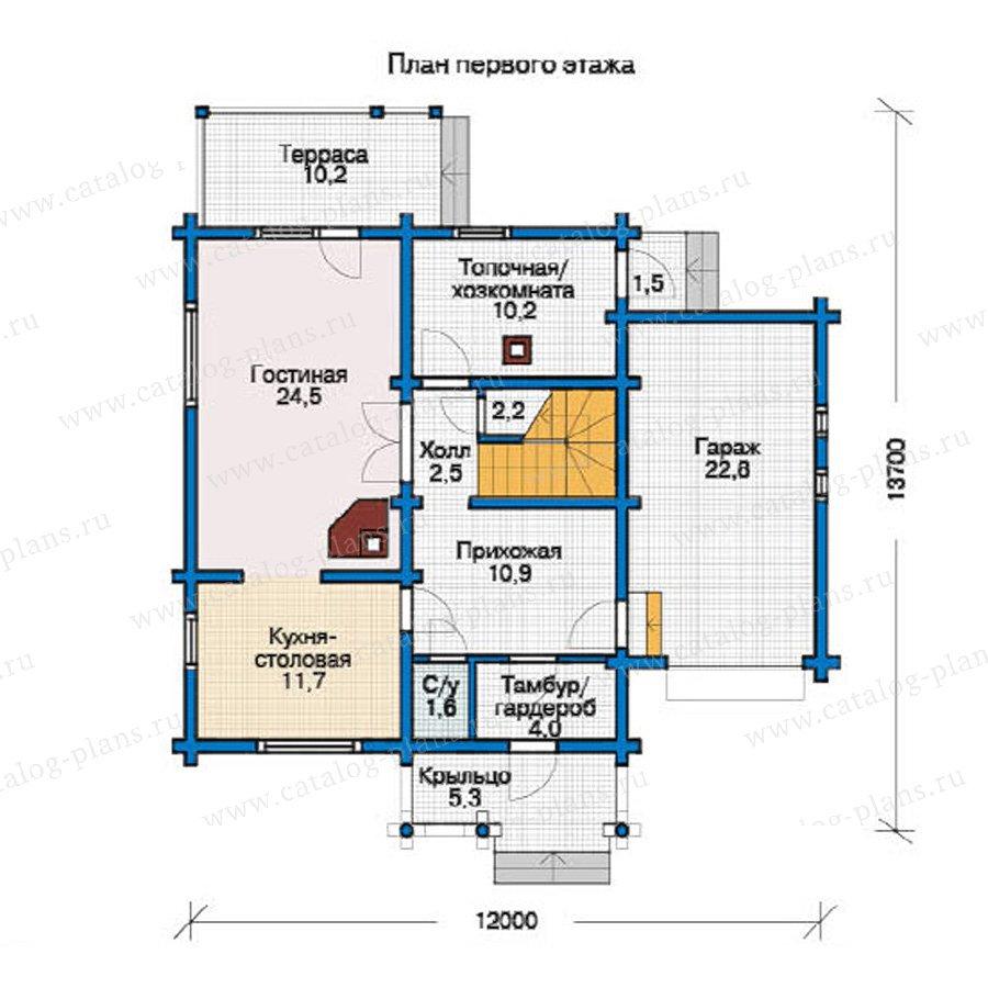 План 1-этажа проекта 11-88