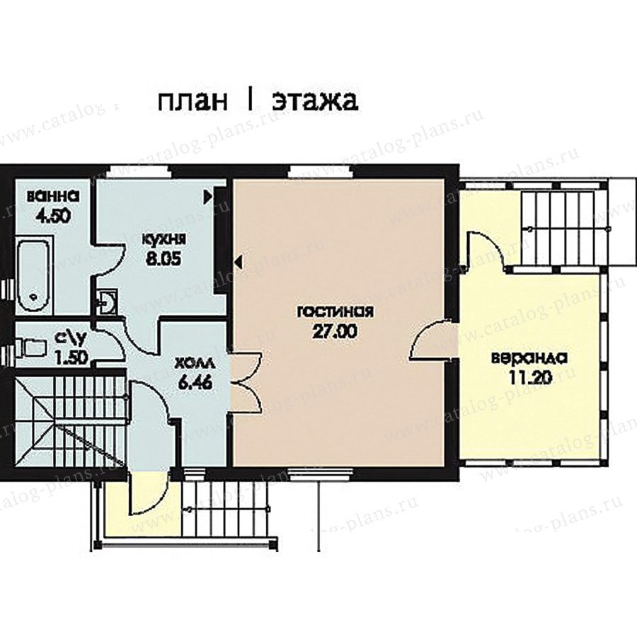 План 1-этажа проекта 11-28
