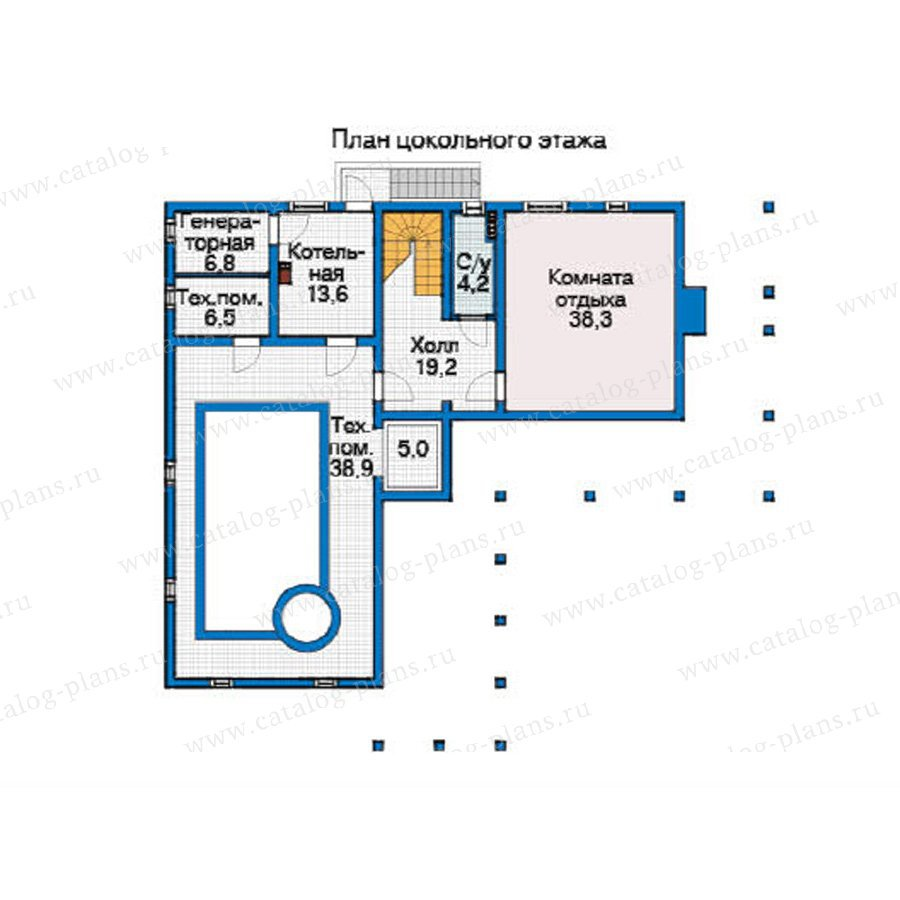 План 1-этажа проекта 12-37