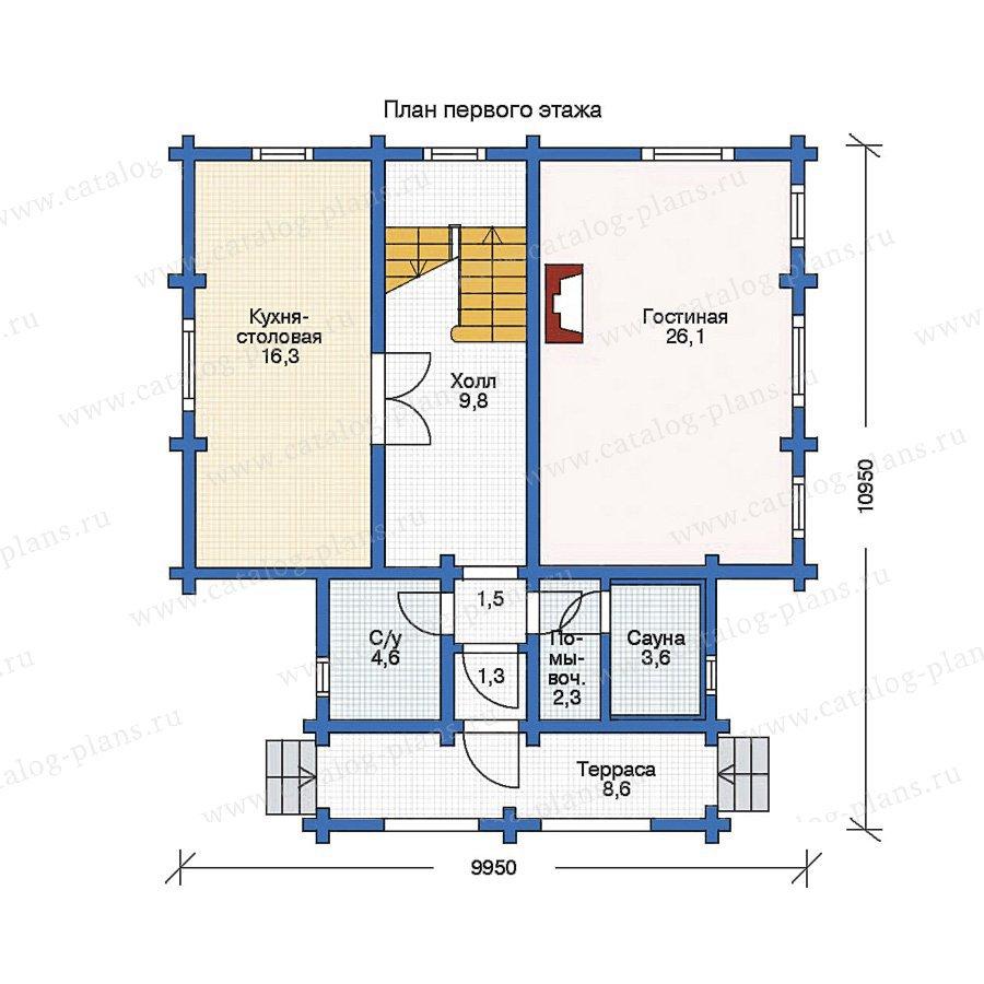 План 1-этажа проекта 11-24