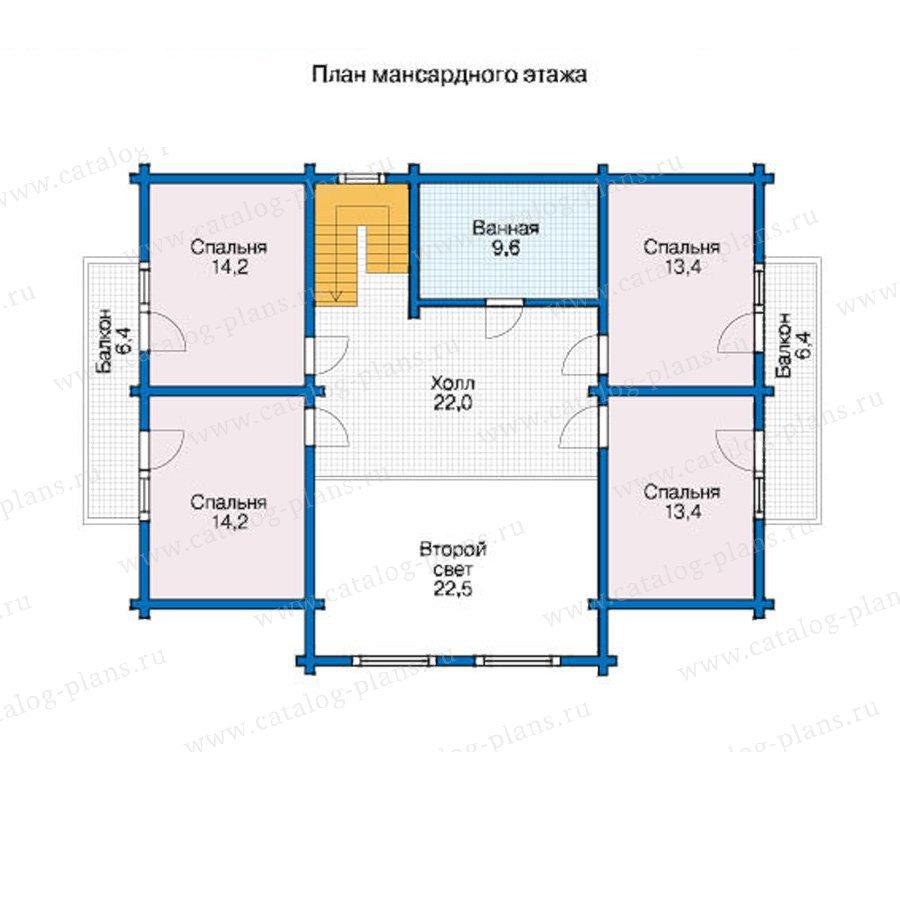 План 2-этажа проекта 12-53