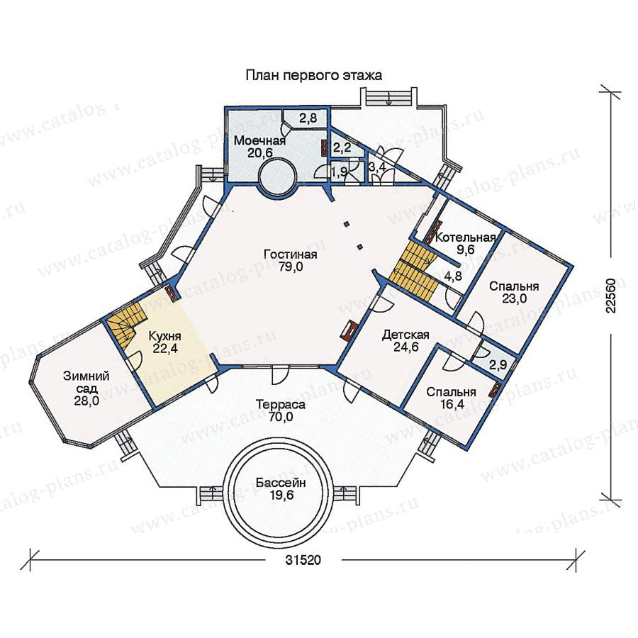 План 1-этажа проекта 11-26