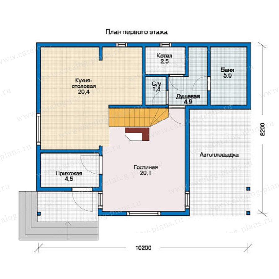 План 1-этажа проекта 12-29