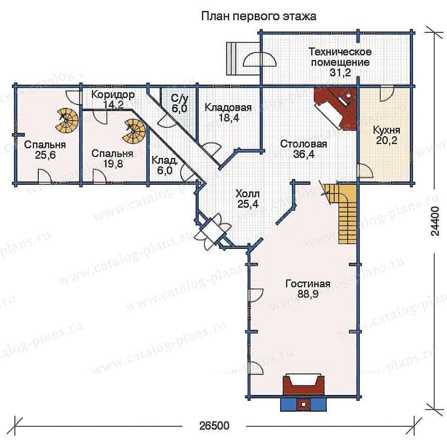 План 1-этажа проекта 11-30
