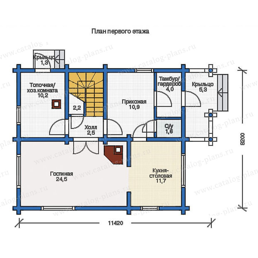 План 1-этажа проекта 11-87
