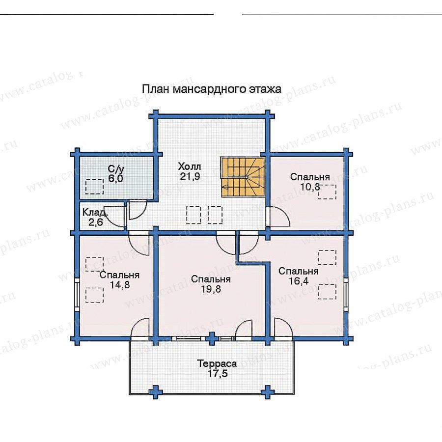План 2-этажа проекта 11-52