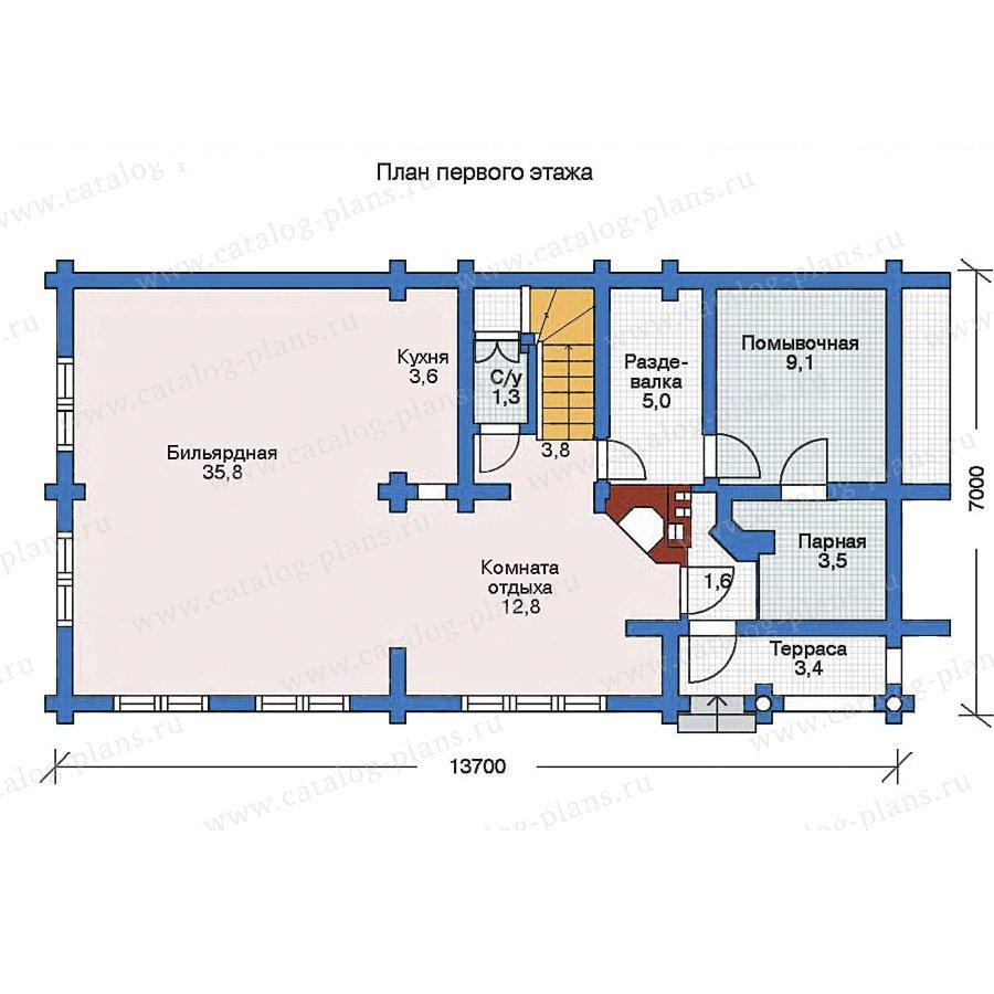 План 1-этажа проекта 11-20