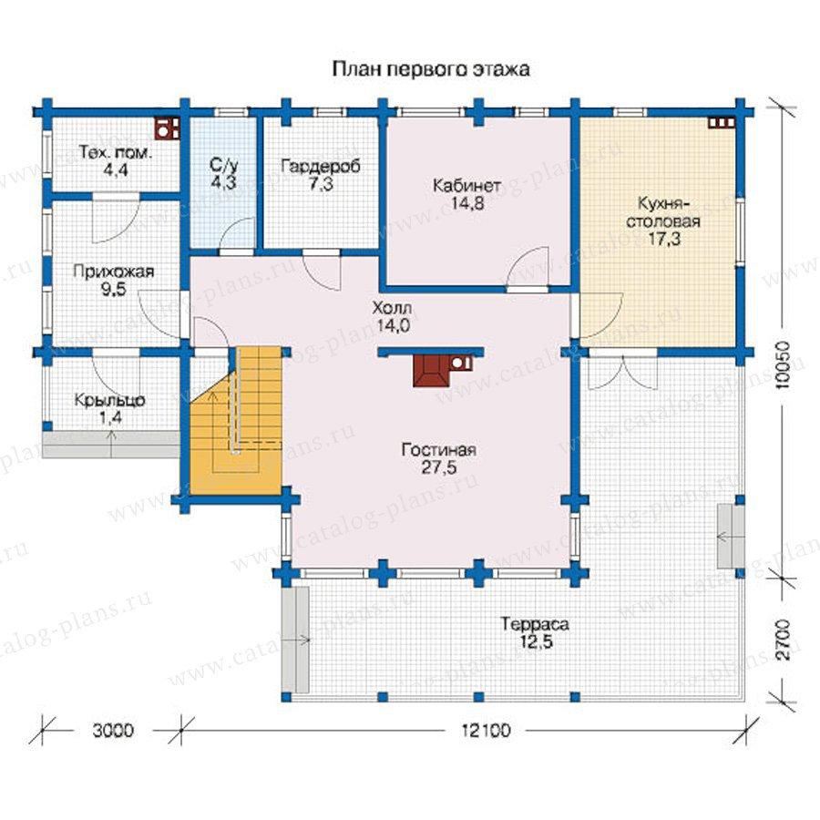 План 1-этажа проекта 12-44
