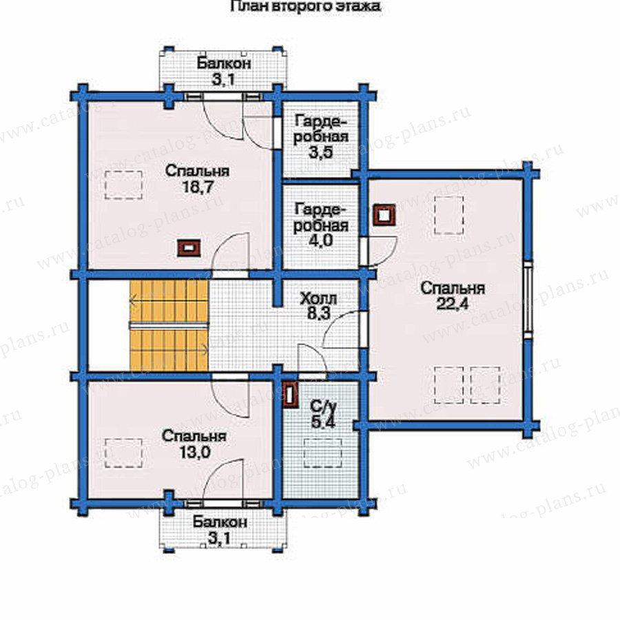 План 2-этажа проекта 11-76