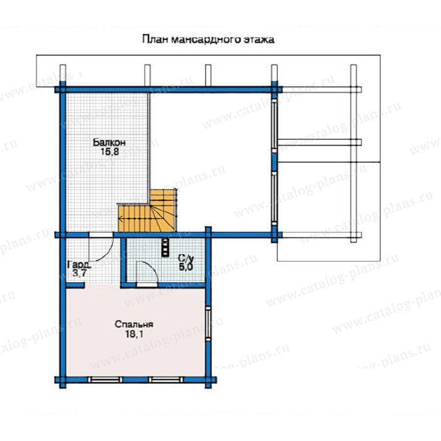 План 2-этажа проекта 12-25