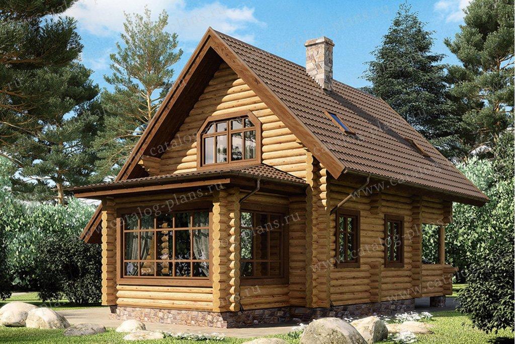 Проект жилой дом #11-34 материал - дерево, стиль скандинавский