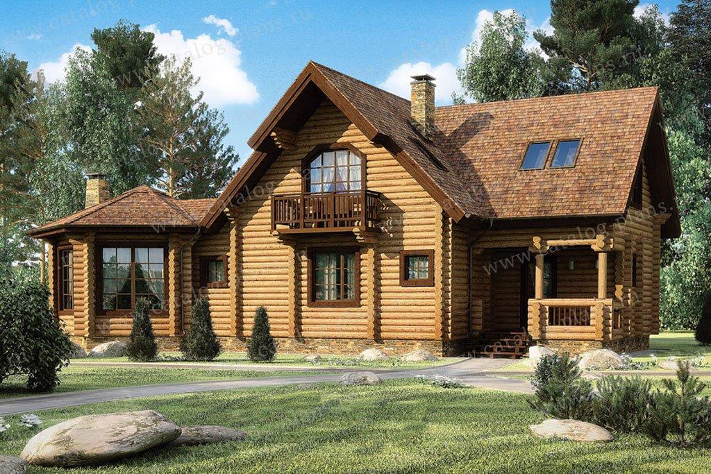 Проект жилой дом #11-76 материал - дерево, стиль скандинавский