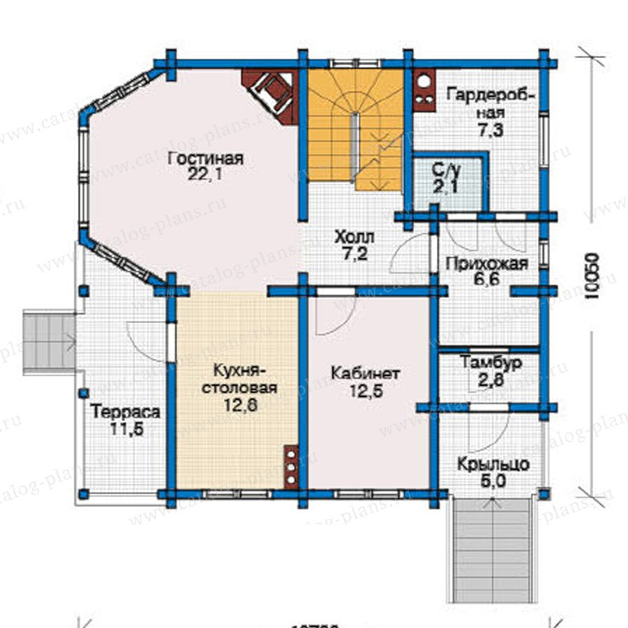 План 2-этажа проекта 11-72