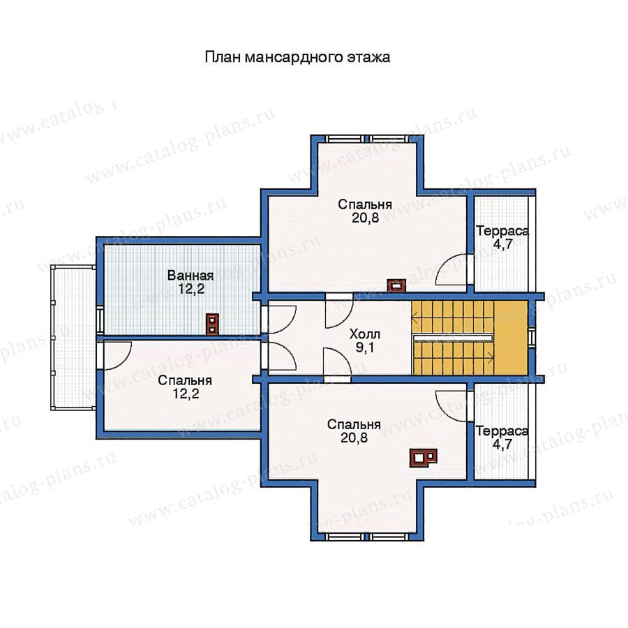 План 2-этажа проекта 11-41