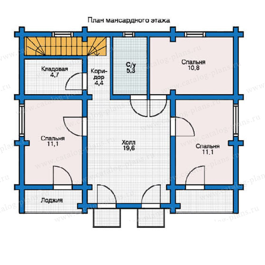 План 2-этажа проекта 12-31