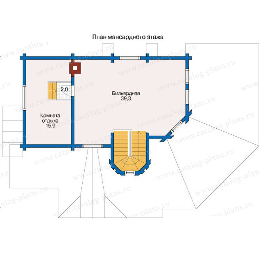 План 2-этажа проекта 12-43