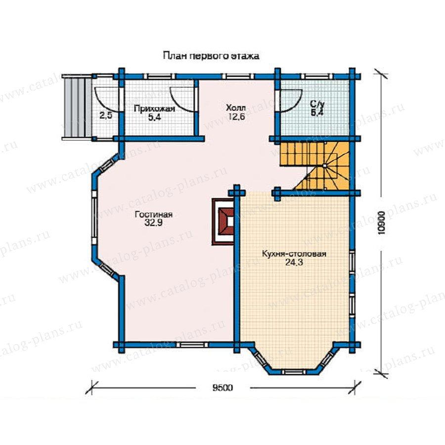 План 1-этажа проекта 11-35